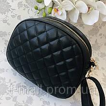 Стильная женская сумка черная (1032)