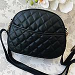 Стильная женская сумка черная (1032), фото 5