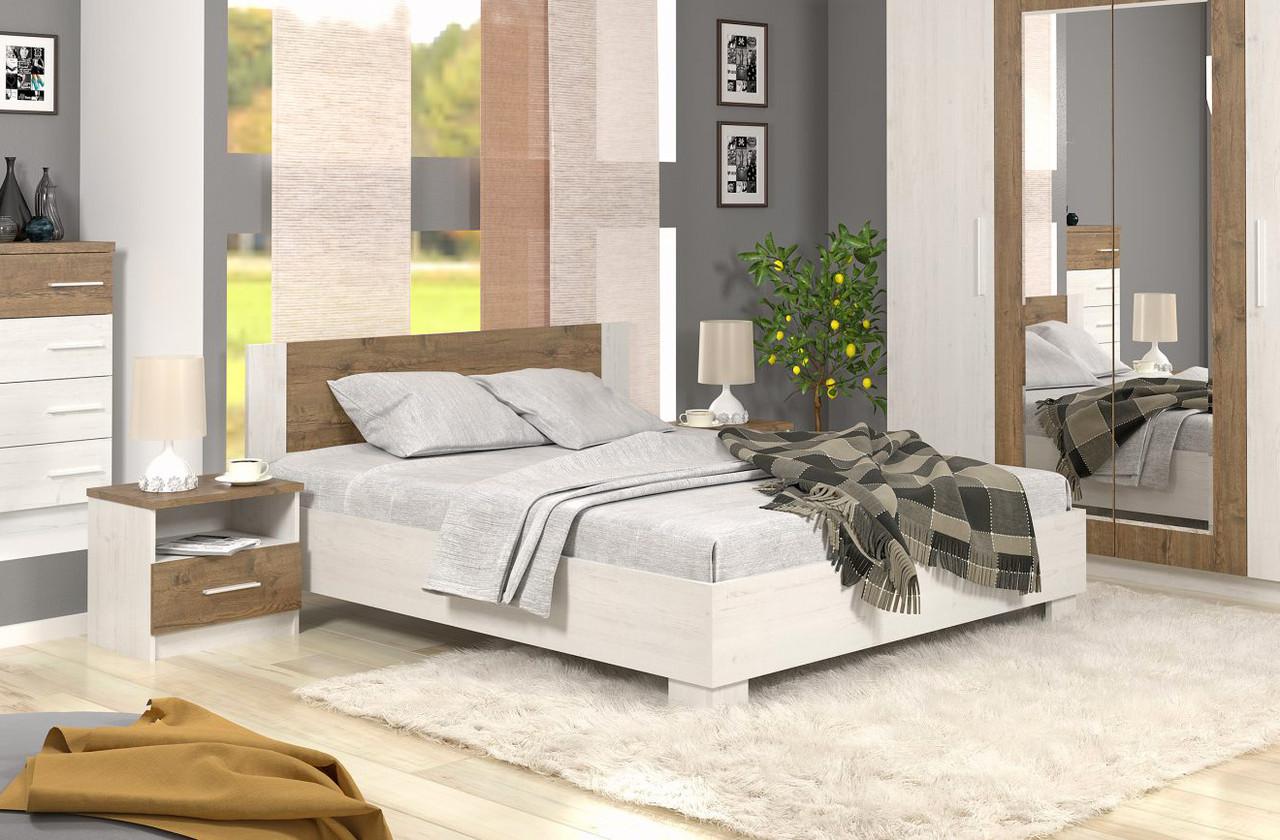 """Ліжко 160х200 """"Маркос"""" від Меблі Сервіс (андерсон пайн\ дуб апріл)"""