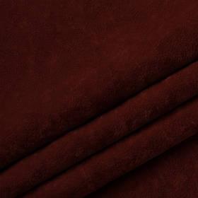 Ткань антикоготь флок Финт бордового цвета