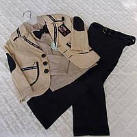 Нарядный костюмчик мальчику, лен и коттон, 1-4 лет, 550/530 (цена за 1 шт. + 20 гр.)