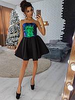 Платье с верхом из пайеток и пышной юбкой, фото 1