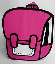 Рюкзак мультяшный 2D.  Малиновый