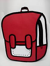 Рюкзак мультяшный 2D. Красный