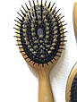 Массажная щётка для волос ALONDRA  силиконовая со щетиной, фото 3