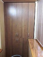 Встроенный шкаф на балконе. Встроенные шкафы на балкон Днепр. Шкафы на заказ Днепр., фото 1