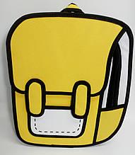 Рюкзак мультяшный 2D. Жёлтый
