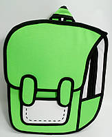 Рюкзак мультяшный 2D. Салатовый