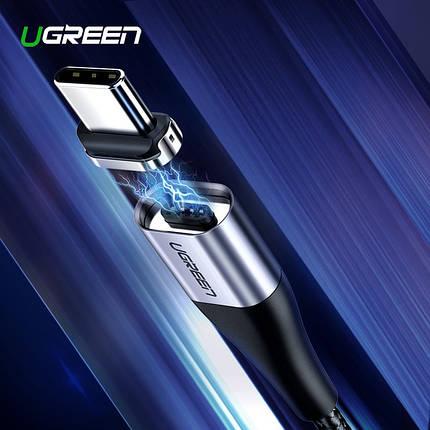 Магнитный кабель Ugreen Type-C для зарядки и передачи данных (Черный, 1м), фото 2