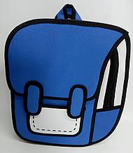 Рюкзак мультяшный 2D. Синий