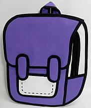 Рюкзак мультяшный 2D. Сиреневый