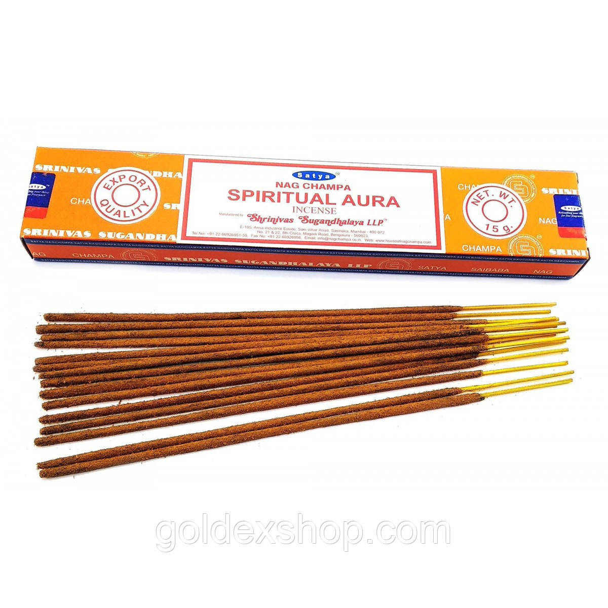Аромапалочки Spiritual Aura (Духовная Аура)(15 грамм)(Satya) масала благовоние
