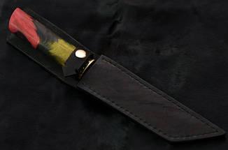 """Авторський ніж танто ручної роботи """"Самурай"""", дамасск, фото 2"""