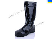 Резиновая обувь мужская Selena 1102 черный (41-45) - купить оптом на 7км в одессе