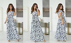 Платье  в пол цветы в расцветках 55160Б