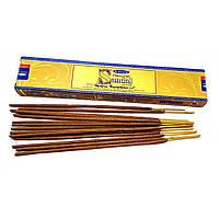 Аромапалочки Natural Sandal (Натуральный Сандал)(15 грамм) (Satya) пыльцовое благовоние