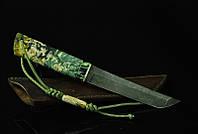 """Авторський ніж танто ручної роботи """"Зелений дракон"""", дамасск"""