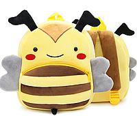 """Рюкзак детский для любимых малышей """"Пчелка"""" мягкий желтый коричневый плюшевый унисекс качественный"""