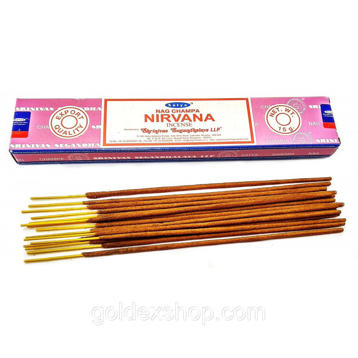 Аромапалочки Nirvana (Нирвана) (15 грамм) (Satya) Масала благовоние
