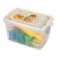 Набір для дитячої ліпки «Тісто-пластилін 12 кольорів» 20*13,5*12см // (TA1068V)