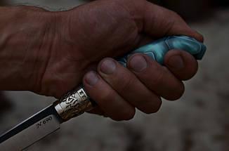 """Нож ручной работы, пуукко  """"Финка"""", N690, фото 2"""