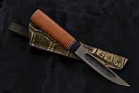 Эвенкийский нож ручной работы с рукоятью из змеиного дерева лайсвуд