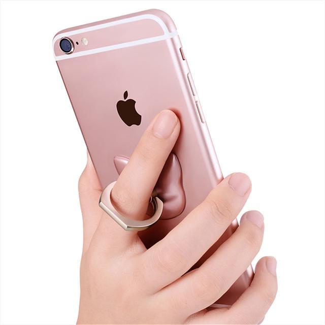 Кольцо-держатель для телефона Cartoon Сat (Золотистое)