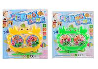 Рыбалка магнитная Крабик на заводном механизме, 3 цвета, на планш. 19*3*21см /388-2/ (366-3)