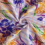10851-3, павлопосадский платок на голову хлопковый (саржа) с подрубкой, фото 5
