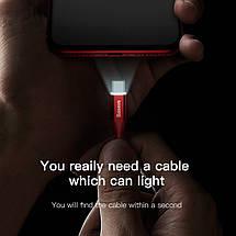 Кабель USB Type-C Baseus с подсветкой для зарядки и передачи данных, фото 2