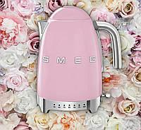 Электрочайник Smeg c регулировкой температуры-Розовый