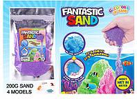"Игра "" Живой песок"" 4 цвета по 200 гр,мерцающий,в п/э /120-2/ (6723--4)"