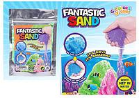 "Игра "" Живой песок"" 5 цветов по 100 гр,мерцающий,в п/э /240-2/ (6723--2)"