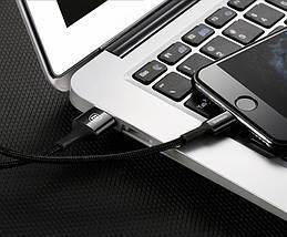Кабель Lightning Baseus с подсветкой для зарядки и передачи данных iPhone/iPad/iPod (Черный, 0.25м), фото 3