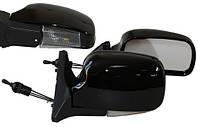 Зеркала ВАЗ 2107, 2105, 2104 черные широкие с поворотником