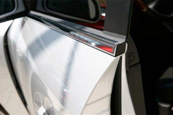 Нижние молдинги стекол Mazda 6 2003-2008 (4 шт.нерж.) Carmos