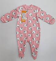 Комбинезон детский для девочки на байке тм Бемби розовый 68 р.