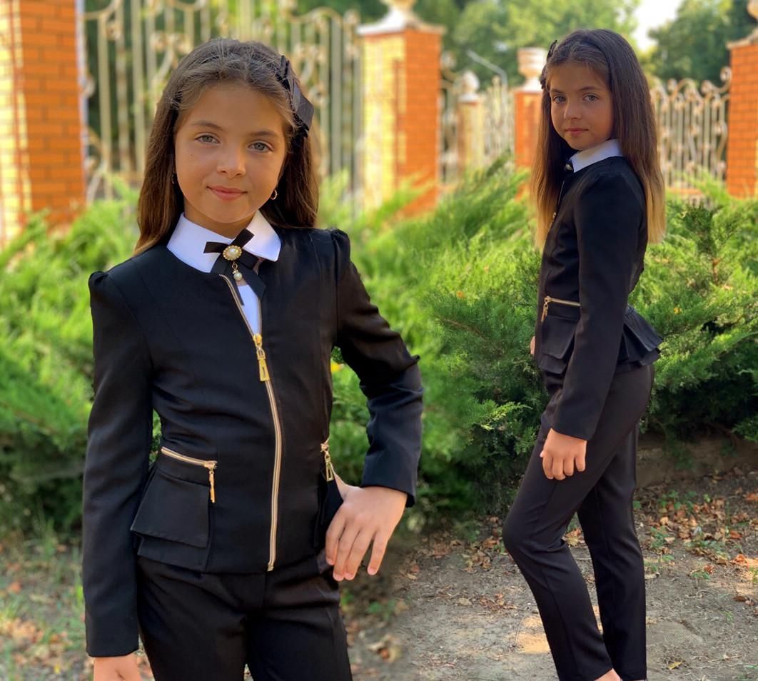 """Детский стильный пиджак 696 """"Мадонна Баска Змейки"""" в школьных расцветках"""