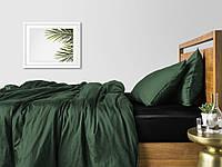 Комплект полуторного постельного белья сатин GREEN BLAC-S