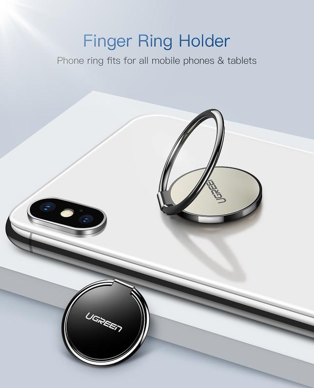 Кольцо-держатель для смартфона Ugreen LP133 50358 Черный