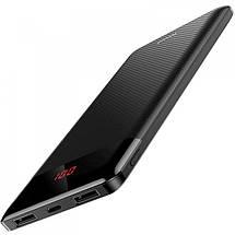 Внешний аккумулятор Baseus Mini Cu Digital Display Power Bank 10000mAh с дисплеем BS-M35 (Черный), фото 3