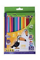 Кольорові олівці, 36кол., KIDS LINE // (ZB.2417)
