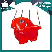 Детская качеля Малыш Технок 3015 Красная   качелька для ребенка   пластиковая подвесная качеля