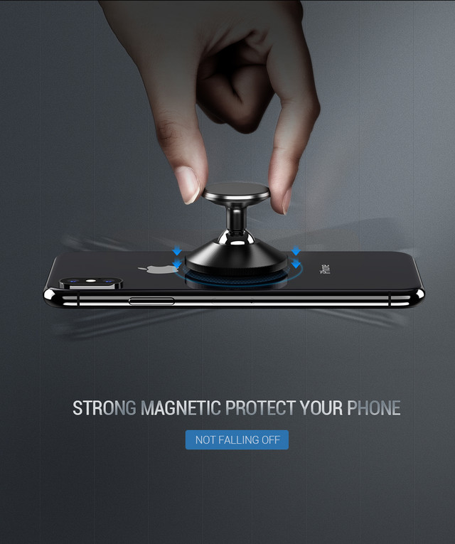 Магнитный автомобильный держатель для смартфона Ugreen 50871 LP117 Черный