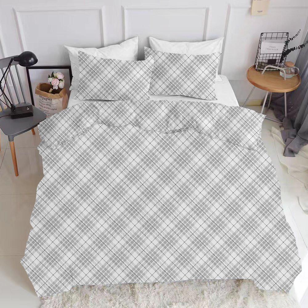 Комплект евро взрослого постельного белья BRILL GREY WHITE