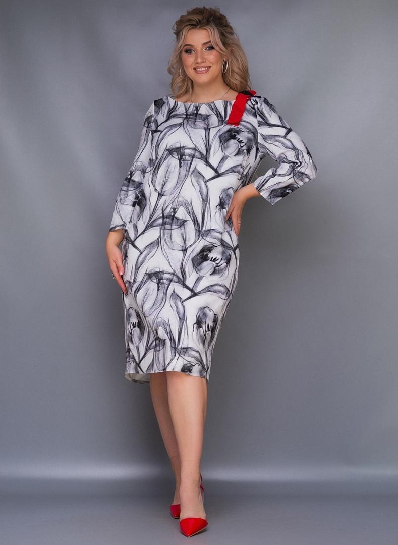 Стильное платье Батал Лента