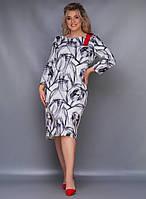 Стильное платье Батал Лента, фото 1