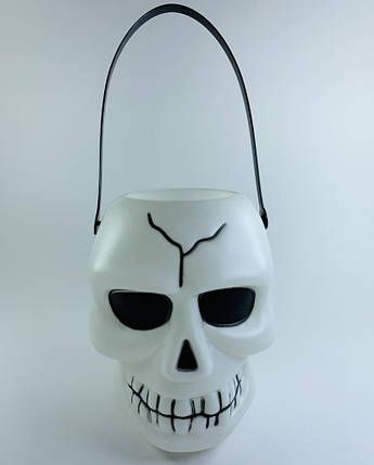 Фонарь Череп со стробоскопом и звуком на Хэллоуин, 18 см, фото 2