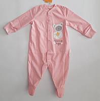 Комбинезон детский для девочки тм Бемби розовый 62 р.