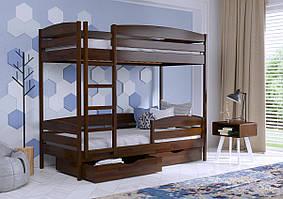 """Дерев'яне двоярусне ліжко """"Дует"""" від Естелла (8 кольорів)"""